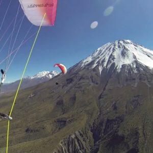 Полёт на параплане в Перу над вершиной вулкана